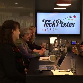 Theresa May visits TechPixies in Oxford