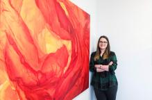 Michelle Alcock - resident artist at Bicester Innovation Centre